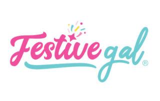 Festive Gal logo for Aurora based custom party supplies designer